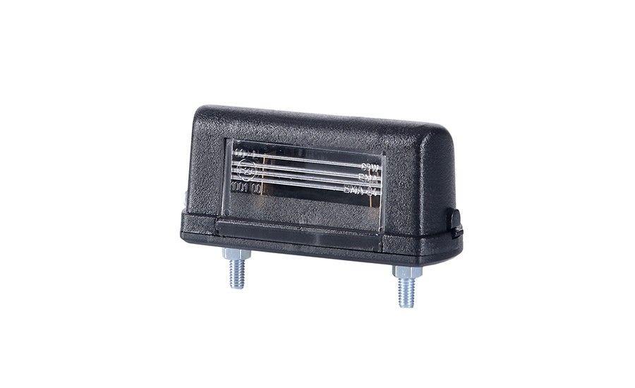 Универсальный, маленький фонарь подсветки заднего номера, с чёрным корпусом