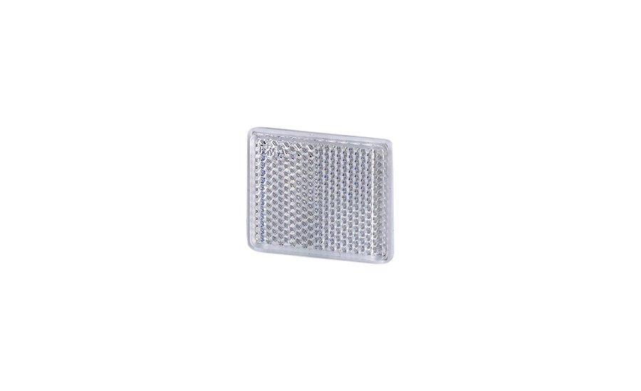 Рефлектор - отражатель квадратный, белый (38х47 мм), с самоклеющейся лентой