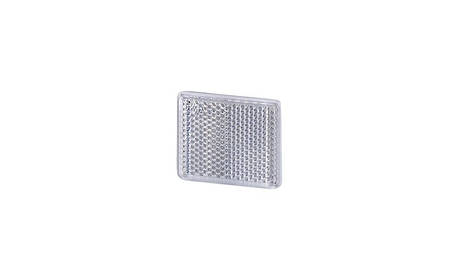 Рефлектор - отражатель квадратный, белый (38х47 мм), с самоклеющейся лентой       , фото 2