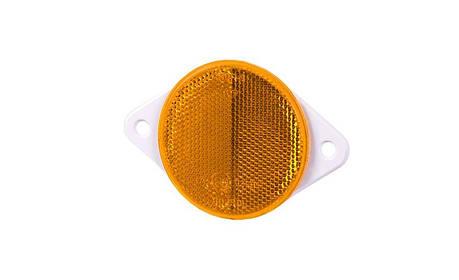 Рефлектор - отражатель круглый, оранжевый (Ø 75), с винтом , фото 2
