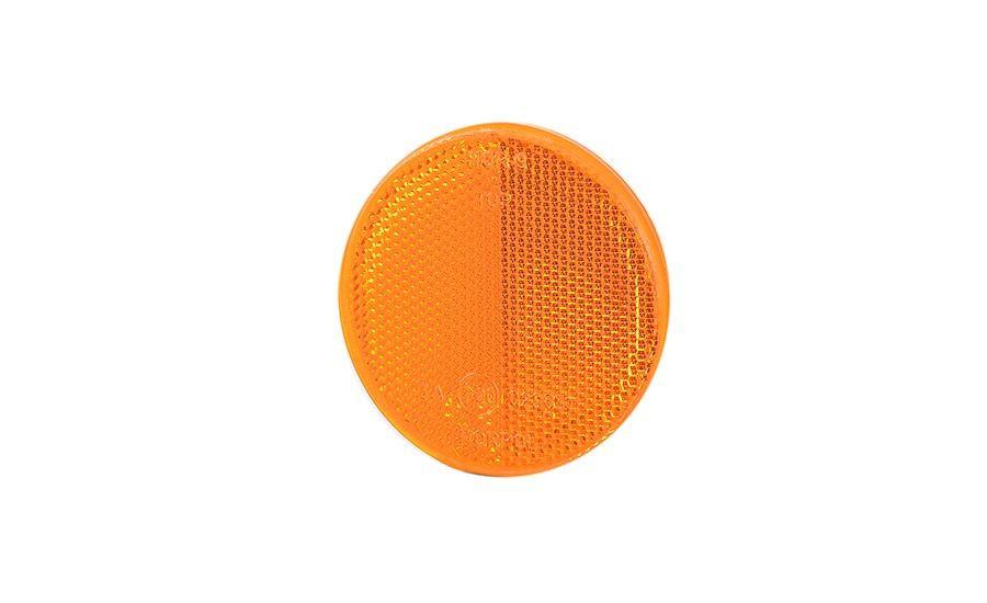 Рефлектор - отражатель круглый, оранжевый (Ø 75), с самоклеющейся лентой