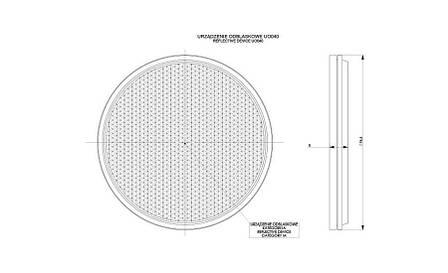Рефлектор - отражатель круглый, красный (Ø 75), с самоклеющейся лентой   , фото 2