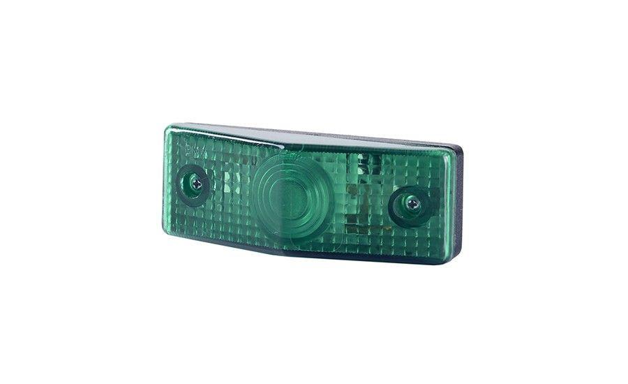 Габаритно - декаративный, плоский фонарь, зелёный