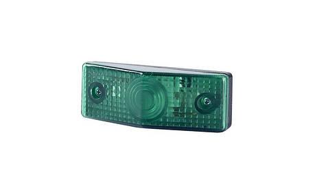 Габаритно - декаративный, плоский фонарь, зелёный , фото 2