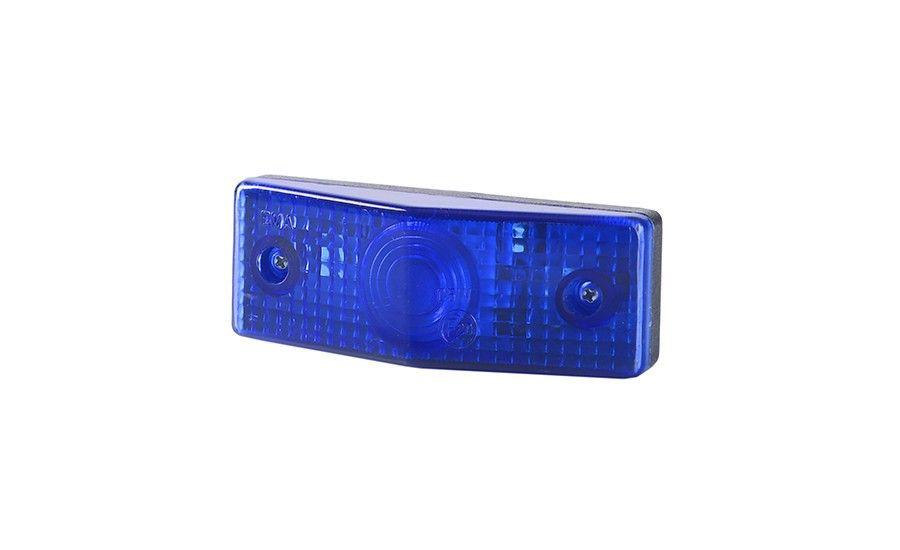 Габаритно - декаративный, плоский фонарь, синий