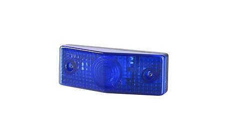 Габаритно - декаративный, плоский фонарь, синий , фото 2