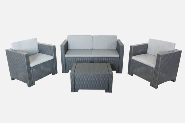 Комплект мебели Colorado (2х местный диван) 4 предмета антрацит, Bica (Италия), фото 2