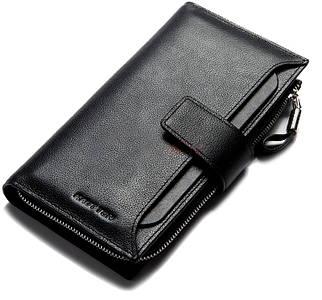 Первоклассный мужской кожаный клатч черный 201BQ