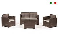 Комплект мебели Alabama (2х местный диван) 4 предмета коричневый, Bica (Италия)