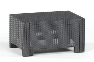 Комплект мебели Nebraska (2х местный диван) 4 предмета, Bica (Италия) антрацитовый, фото 2
