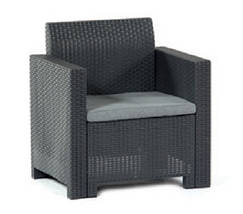 Комплект мебели Nebraska (2х местный диван) 4 предмета, Bica (Италия) антрацитовый, фото 3