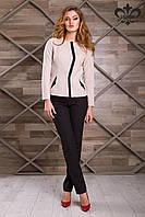 Классический женский бежевый пиджак Имидж ТМ Luzana 42-52 размеры