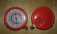 Манометр ВД красный R-600