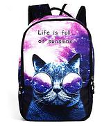 Городской рюкзак галактика(космос) с котом.