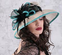 Элегантная  шляпа  для лета из натуральной соломки