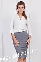 Однотонная облегающая юбка делового стиля