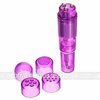 Клиторальный вибратор для женщин + 4 насадки