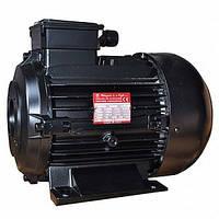 Двигатель Италия  Melegari 5,5 кВт полый вал, 1450 об\мин, 380В.