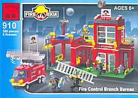 Конструктор брик пожарная часть, арт. 910 brick (enlighten).
