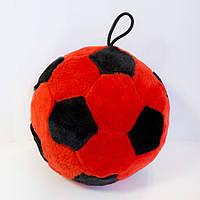 Мягкая игрушка Мячик красно-черный