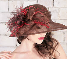 Шикарная шляпа  для лета из натуральной соломки