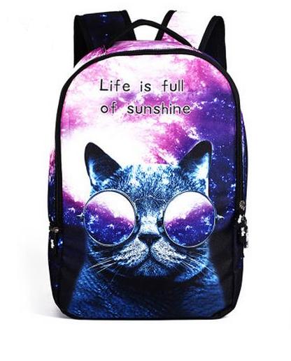 Крутой рюкзак Галактический кот