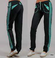 Женские спортивные брюки трикотажные (черные)