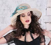 Женская шляпа  для лета из натуральной соломки
