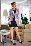 Яркий женский пиджак Амадеус ТМ Luzana 42-52 размеры