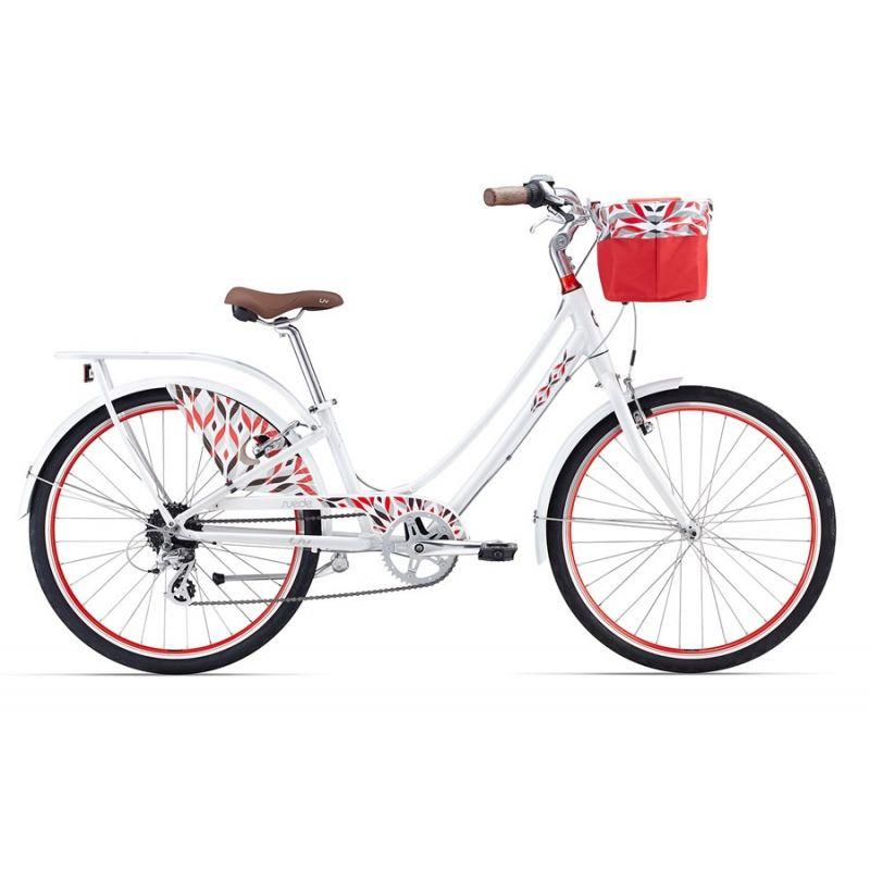 Городской женский велосипед Giant Liv Suede 1, белый/красный (GT)