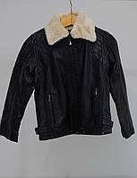 Весенняя кожанная куртка для мальчика