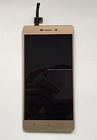Оригинальный дисплей (модуль) + тачскрин (сенсор) для Xiaomi Redmi 3 | 3 Pro | 3s | 3s Prime | 3x (золотой)