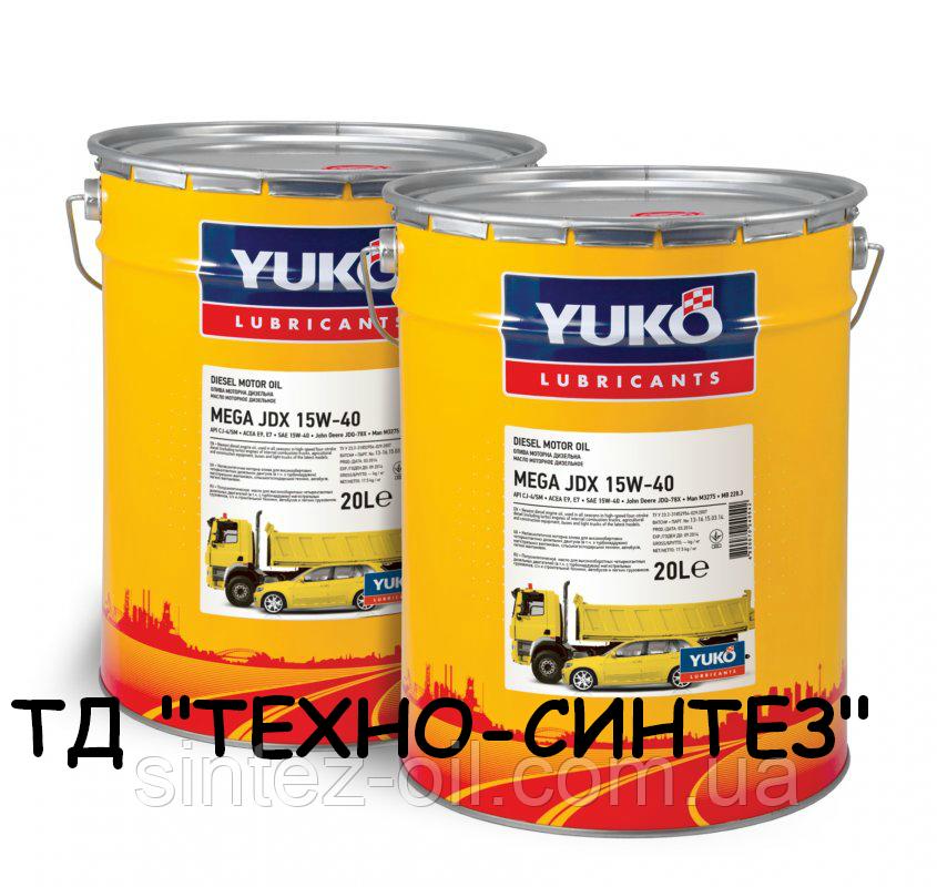 YUKO MEGA JDX 15W-40 API CJ-4/СІ-4/SM Минеральное моторное масло (20л)