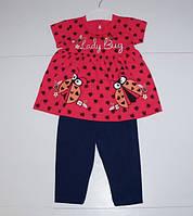 Летний детский костюм  для девочек от 1 до 3 лет