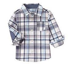 Рубашка с длинным рукавом на мальчика 2-3-4 года Plaid Shirt Crazy8 (США)