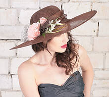 Женская шляпа  для лета из натуральной соломки 55 см