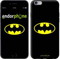 """Чехол на iPhone 6 Plus Бетмен логотип """"3201c-48-4848"""""""