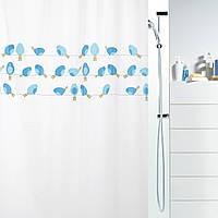 Шторка для ванной виниловая Spirella BIRDY 180х200