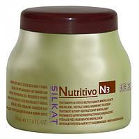 Маска-крем питательная для сухих, осветленных и ломких волос BES SILKAT NUTRITIVO N3 500 мл