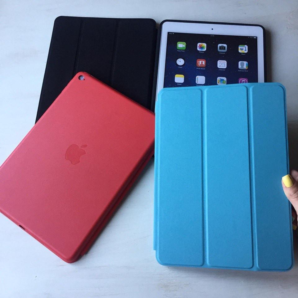 Голубой кожаный чехол Smart Case для iPad Air 2