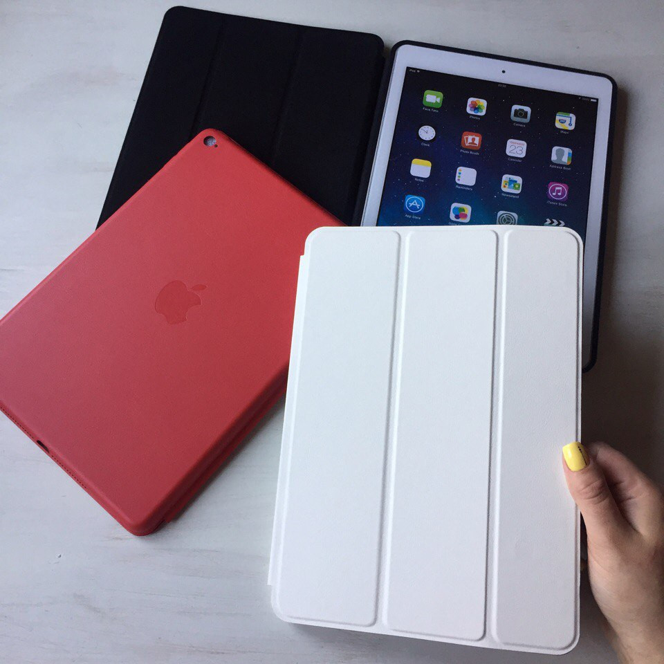 Белый кожаный чехол Smart Case для iPad Air 2