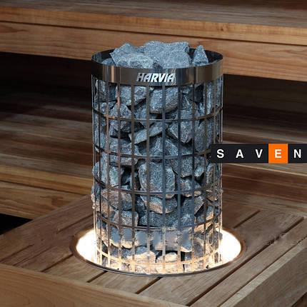 Монтажный фланец с подсветкой HPC2L для каменок Harvia Cilindro, фото 2
