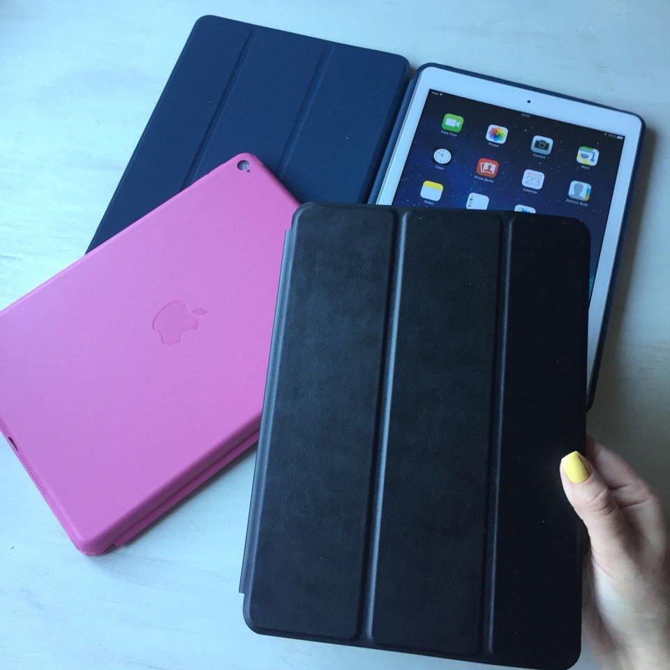 Чёрный кожаный чехол Smart Case для iPad Air 2