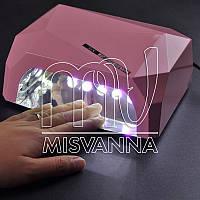 УФ лампа POWERFUL UV+LED DIMOND на 36 Вт с сенсором и таймером 10,30,60 сек. и магнитным дном (light pink)