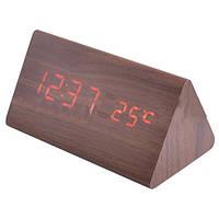 Оригинальные настольные часы 861-1, красное свечение, термометр, USB шнур, будильник, 146х81х72 мм