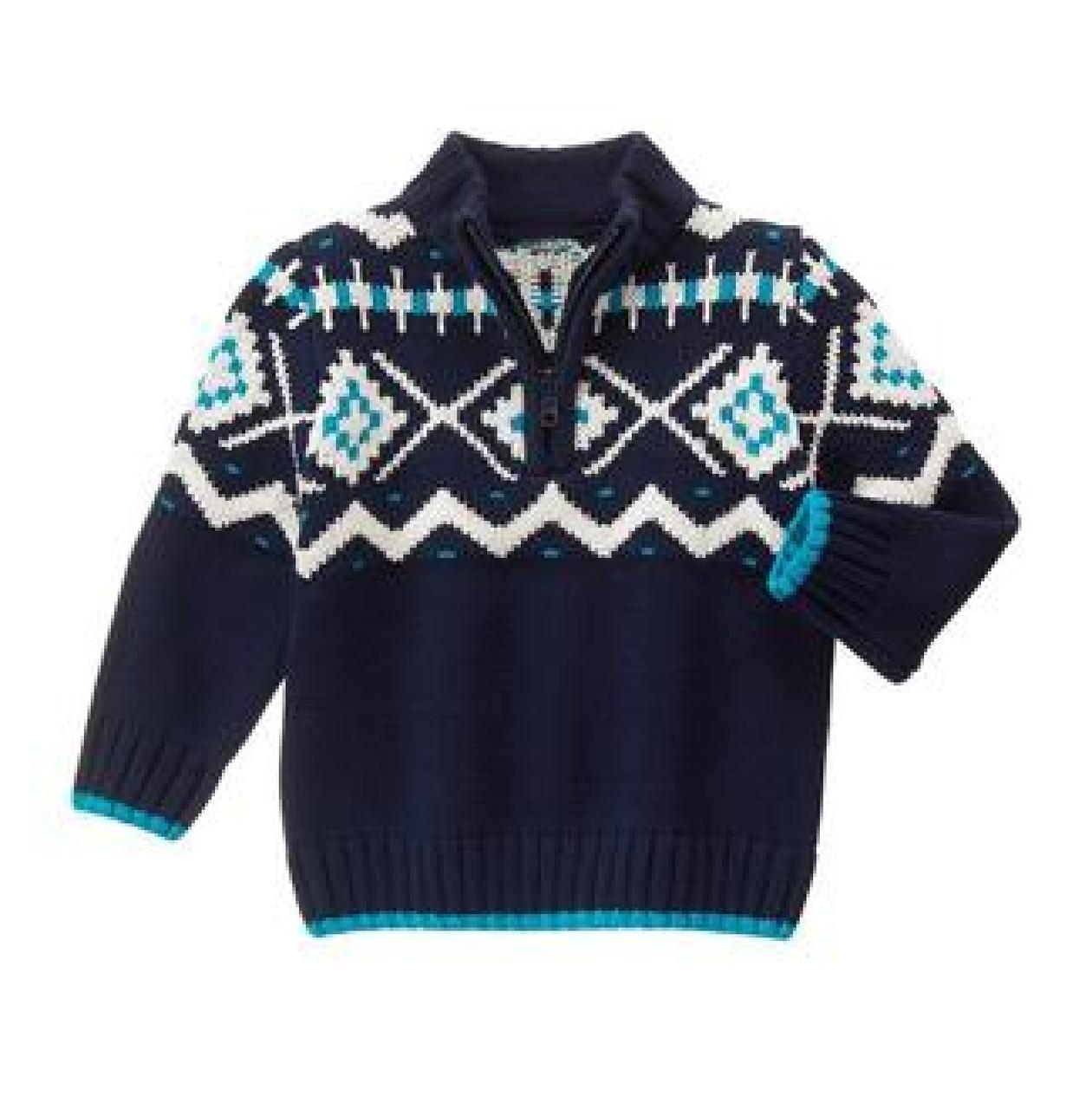 вязаный свитер на мальчика 2 года Fair Isle Sweater Gymboree сша