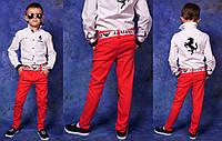 """Детские стильные лёгкие джинсы + ремень 824 """"Джинсы Цветные"""" в расцветках"""