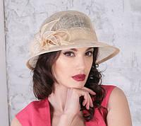 Летняя шляпа  из натуральной соломки синамей