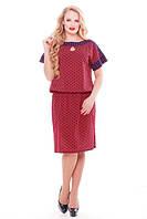 Женское летнее платье  Катарина коралл (50-58)