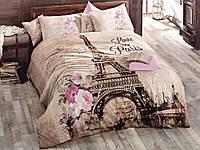 Двуспальное постельное белье ранфорс ISSIMO HOME Paris (Париж)